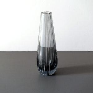 scandinavian-blown-art-glass-striped-vase