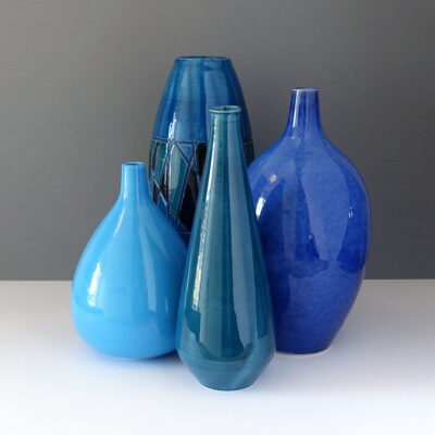 four-blue-italian-wingard-vases