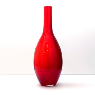 extra-large-red-blenko-floor-vase