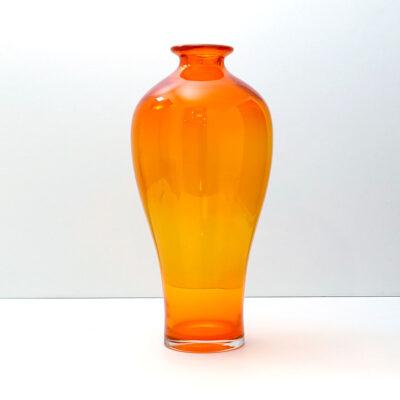 very-large-blenko-orange-chinese-urn-style-vase