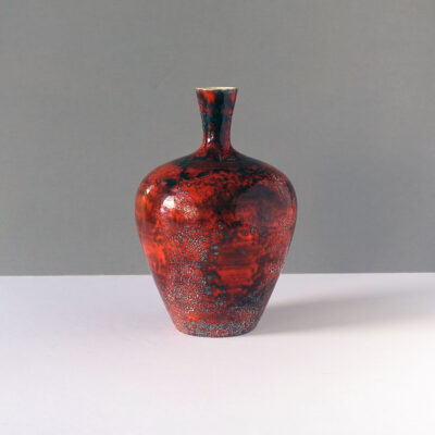perfect-red-fat-lava-west-german-vase