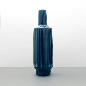very-tall-blue-ribbed-ceramic-floor-vase