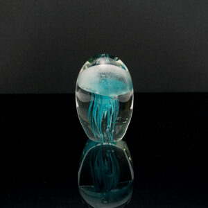 large-blue-vintage-jellyfish-art-glass-paperweight
