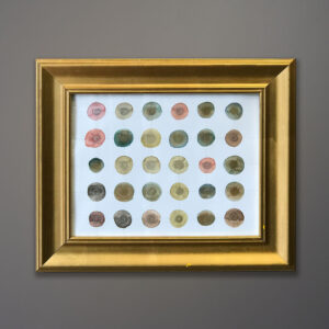 leah-peeks-metallic-dots-gold-frame
