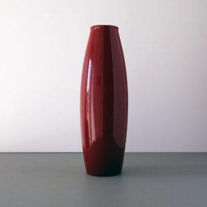 scheurich-tall-dark-red-torpedo-floor-vase