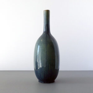 tall-gray-green-mottled-bottle-long-neck-vase