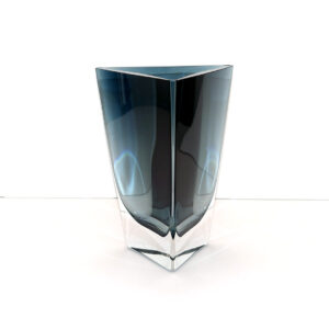 krosno-poland-crystal-blue-triangular-vase