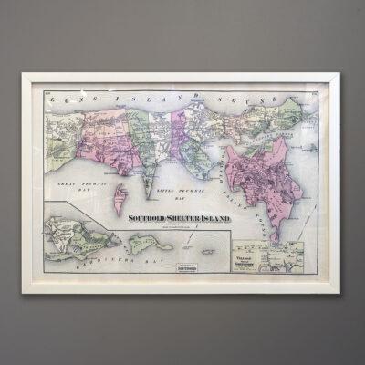 southold-shelter-island-map-white-frame