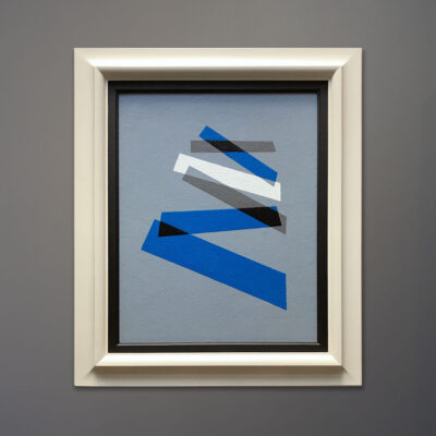 aron-bluebluegray-abstract-painting-white-frame