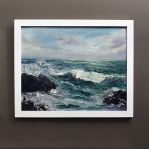 mystery-artist-oil-painting-waves-on-rocks