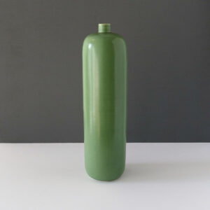 Tall Vintage Bottle Shape Celadon Vase