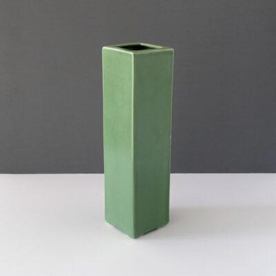 Medium Vintage Square-Celadon Vase