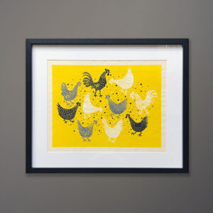kubach-chickens-on-yellow-original