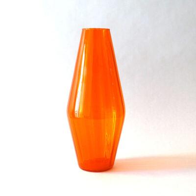 scandinavian-style-blown-glass-optical-orange-vase