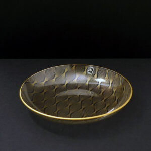 benelux-flamingo-wavy-gilt-bent-glass-platter