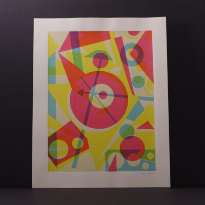 mid-century-abstract-screen-print-genelli-arrows-16x20