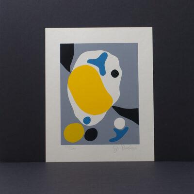 mid-century-modern-abstract-silkscreen-print-becker-14x17