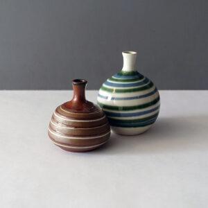 otagiri-japan-vintage-striped-weed-pot-vases-pair