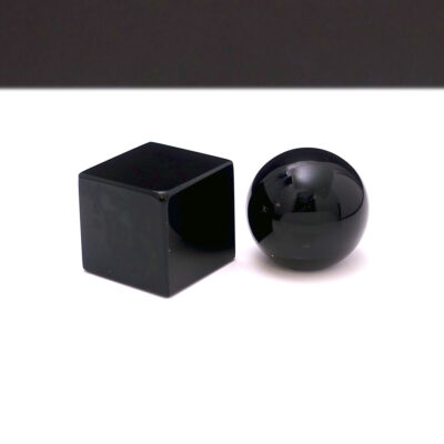 black-glass-cube-sphere-mid-century-sculpture-objet2