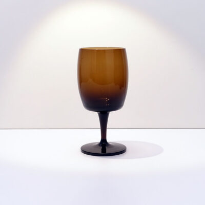 GORHAM-REIZART-blown-1960s-brown-german-stemware-3