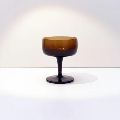 GORHAM-REIZART-blown-1960s-brown-german-stemware-5