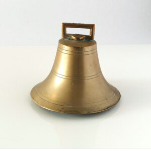 English-brass-bell-copper-flange-iron-clapper