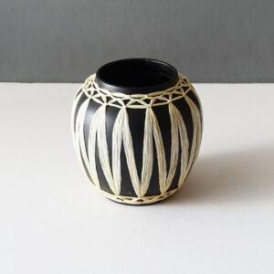 gmundner-keramik-austria-raffia-wrapped-vase