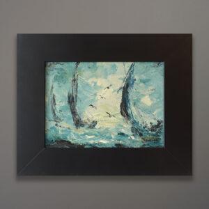 circa-1960-impressionist-sailboat-regatta