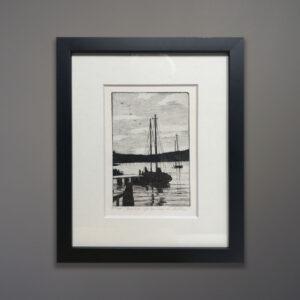 Eventide etching Don Swann - Barbara Gettier