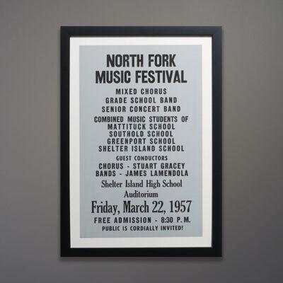 Trio of North Fork Posters Black Frames