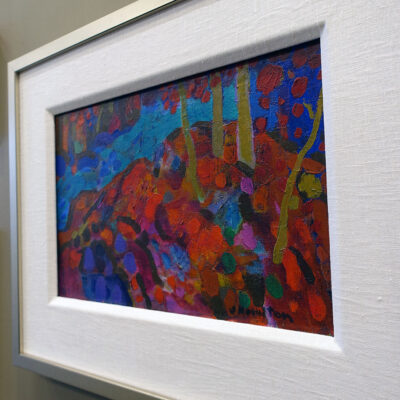 21-075 Mid-Century Abstract Impressionist Landscape