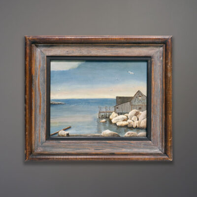 Mid-Century-original-coastal-oil-painting
