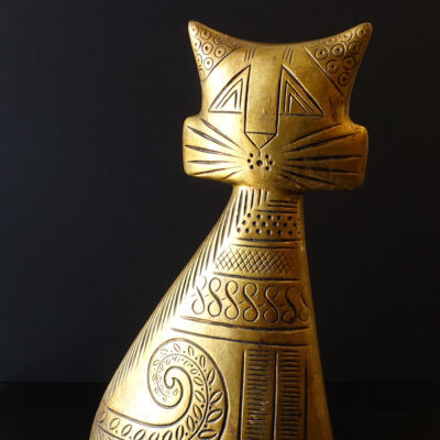 Rare Hedi Schoop Turn-About Cat Sculpture