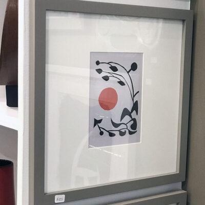 Alexander Calder 1954 Lithograph-gray-frame