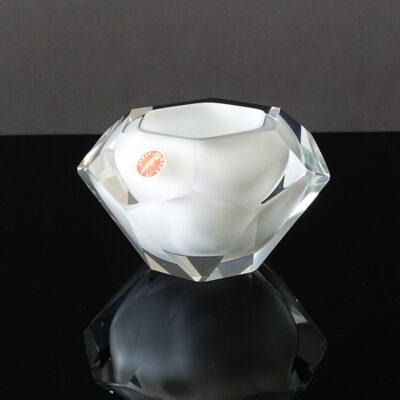 murano-white-sommerso-faceted-trinket-holder