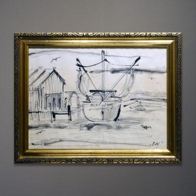maritime-harbor-original-1971-drawing