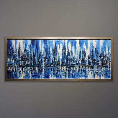 casari-city-of-blue-impressionist-painting