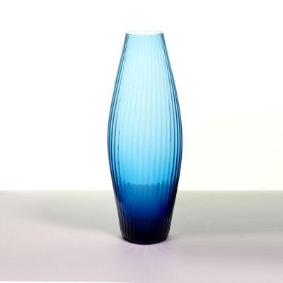 cobalt-blue-IVV-Italy-ribbed-bullet-vase