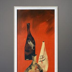mid-century-wine-bottle-painting