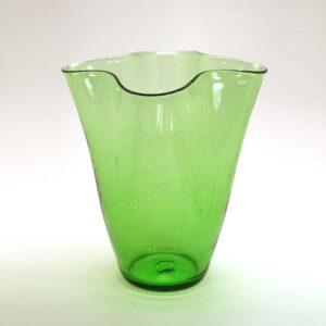 Green Handkerchief Vase