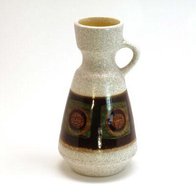 West German Fat Lava Vase with Handle