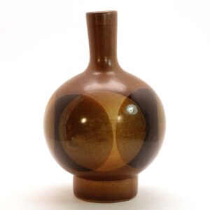 Pottery Craft Large Round Long Neck Dark-C4-2400px