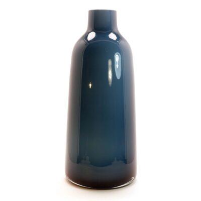 Venini Style Blue Tapered Cased Glass Vase