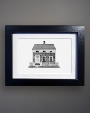 Vernacular Cottage Portrait Greenport NY-Black