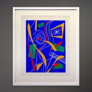 1970s Carl Kent Abstract Silkscreen Print