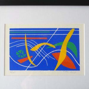 Mid-Century Original Silkscreen Print Kent-01