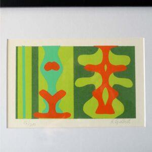 Mid-Century Original Silkscreen Print Gilbert-03