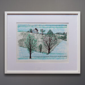 Mid-Century Landscape Silkscreen Print Brant