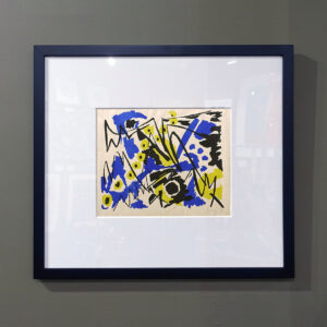 Mid-Century Abstract Silkscreen Print-1