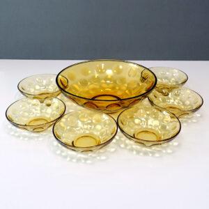 8-250 Hazel-Atlas Eldorado Gold Serving Bowl Set